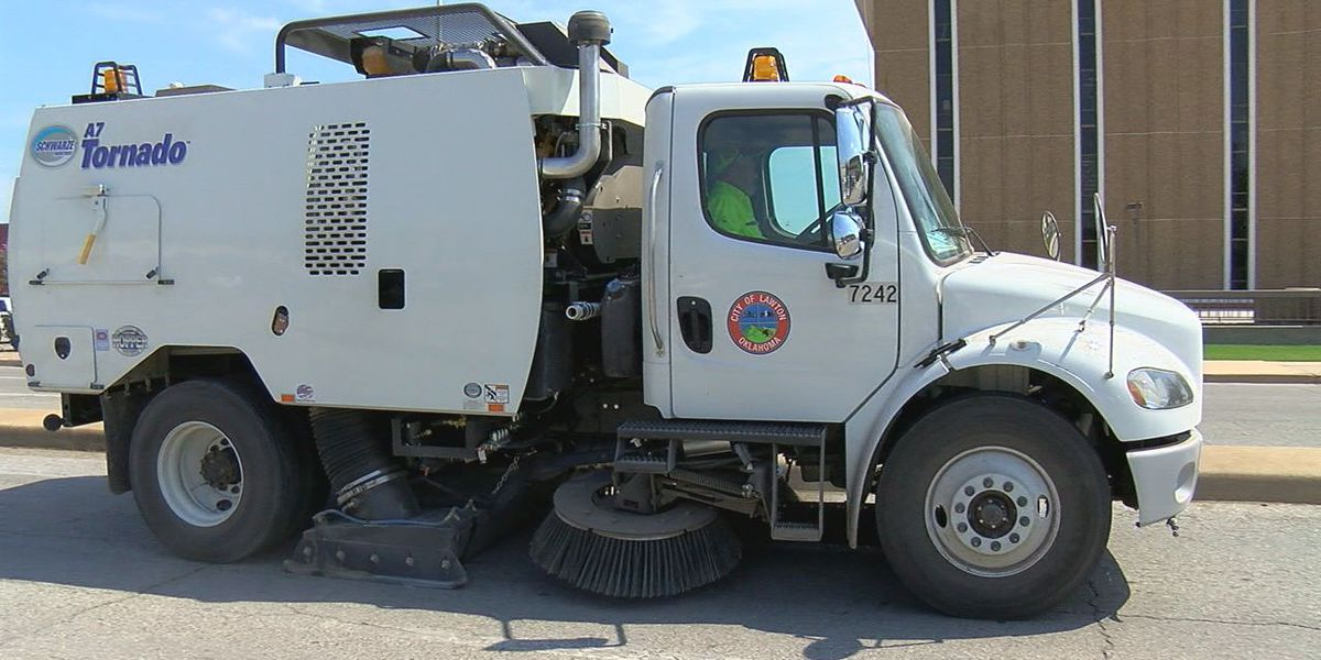 Lawton gets new street sweeper