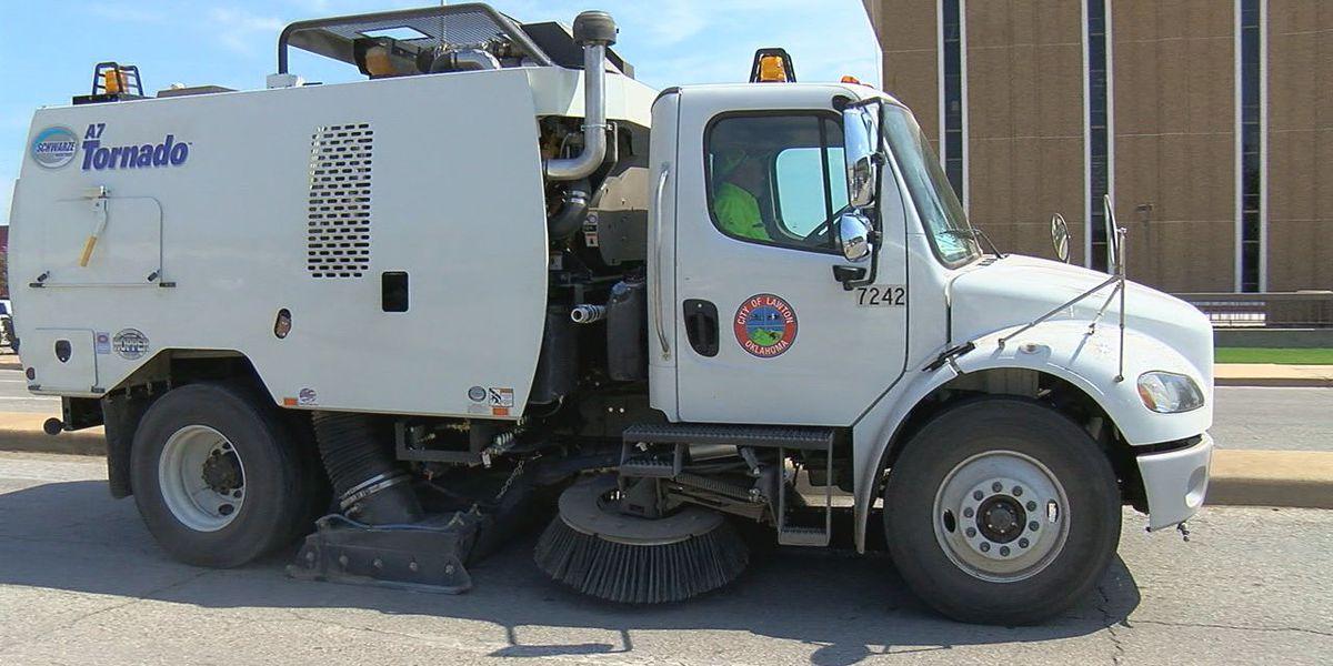 Lawton gets new street sweeper