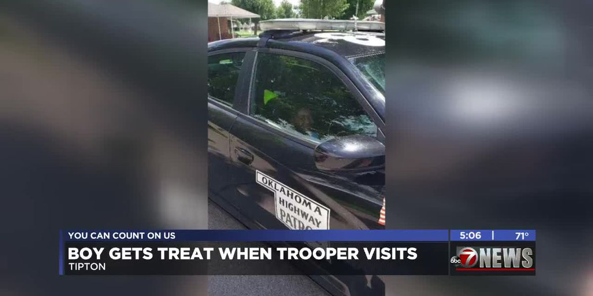 OHP Trooper visits Tipton Children's Home to fulfill boy's wish