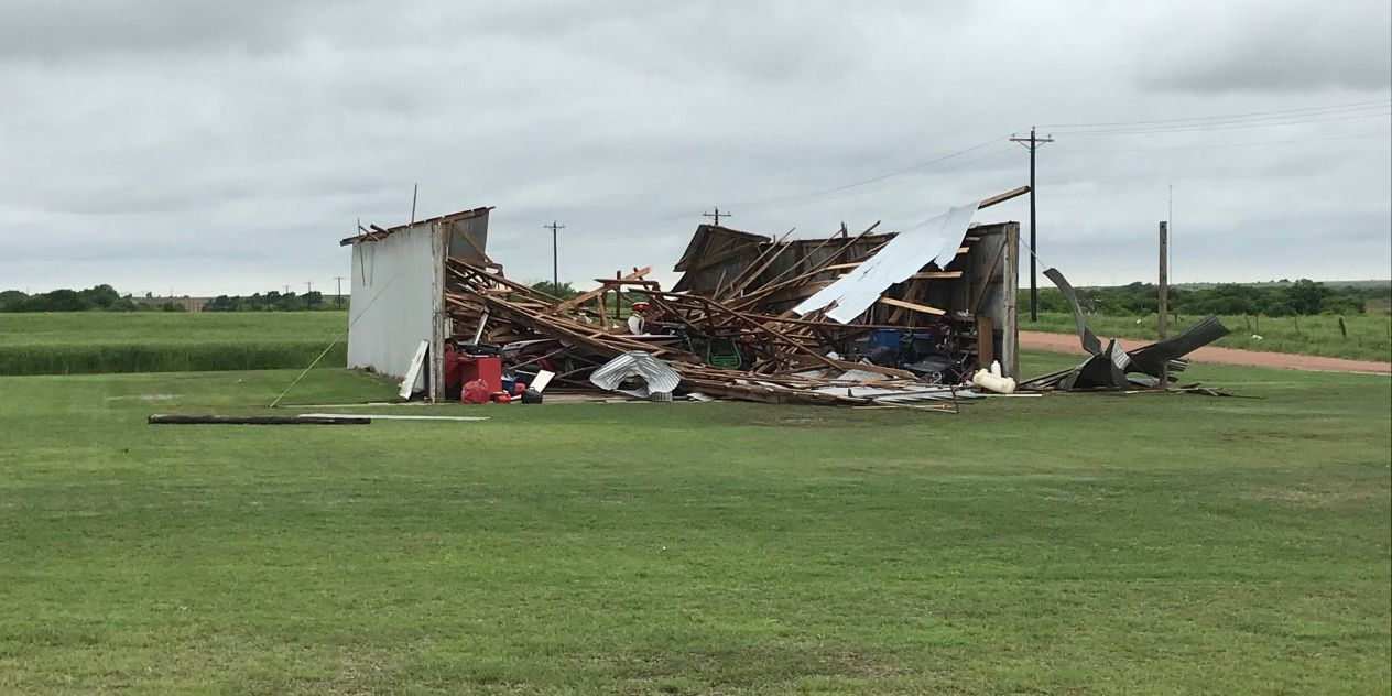 Overnight tornado leaves damage in Kiowa and Washita Counties