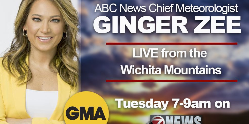 GMA's Ginger Zee visiting Wichita Mountains on Tuesday morning