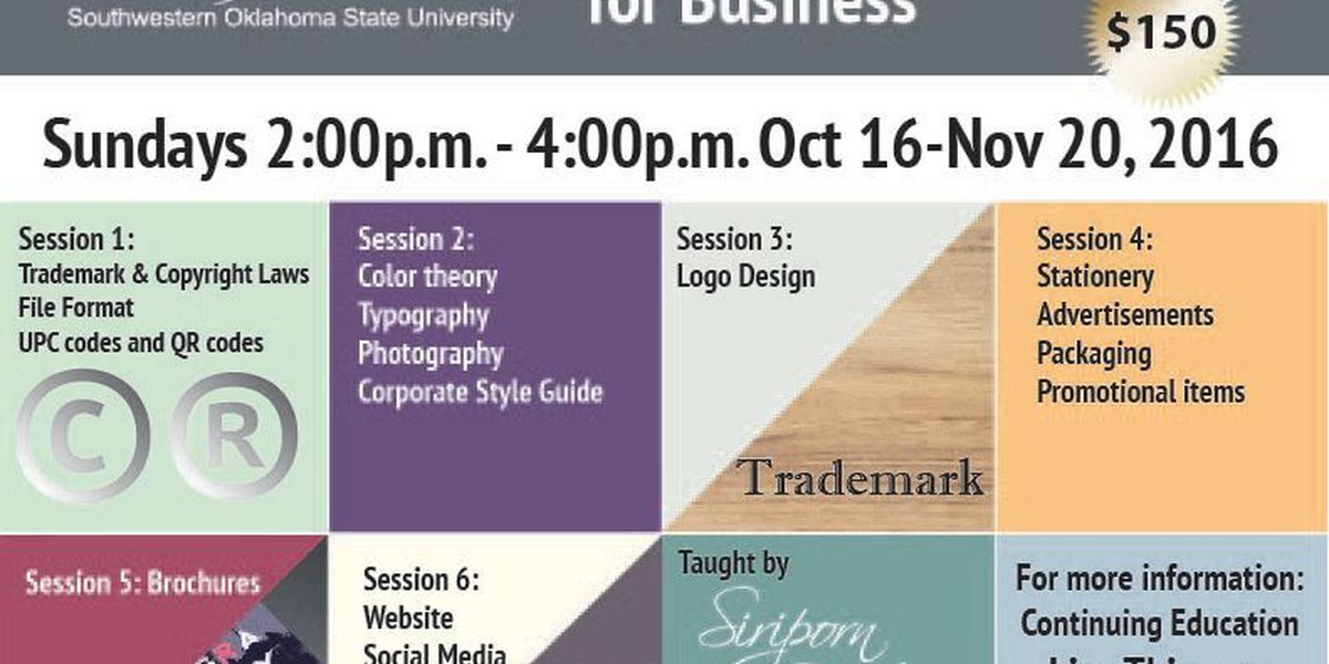 Basic Digital Graphics for Business is offered by SWOSU