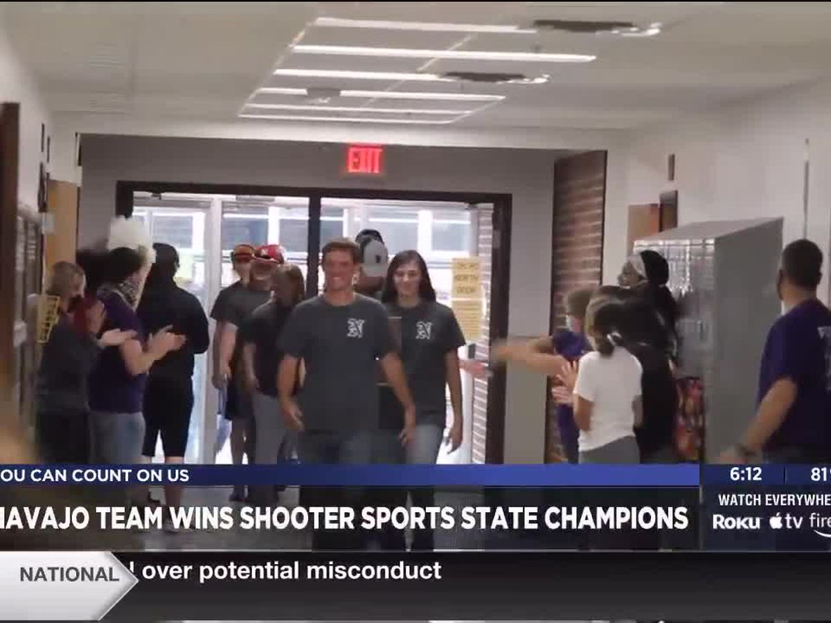 Navajo Shooter Sports Team welcomed home as Shooter Sports State Champions