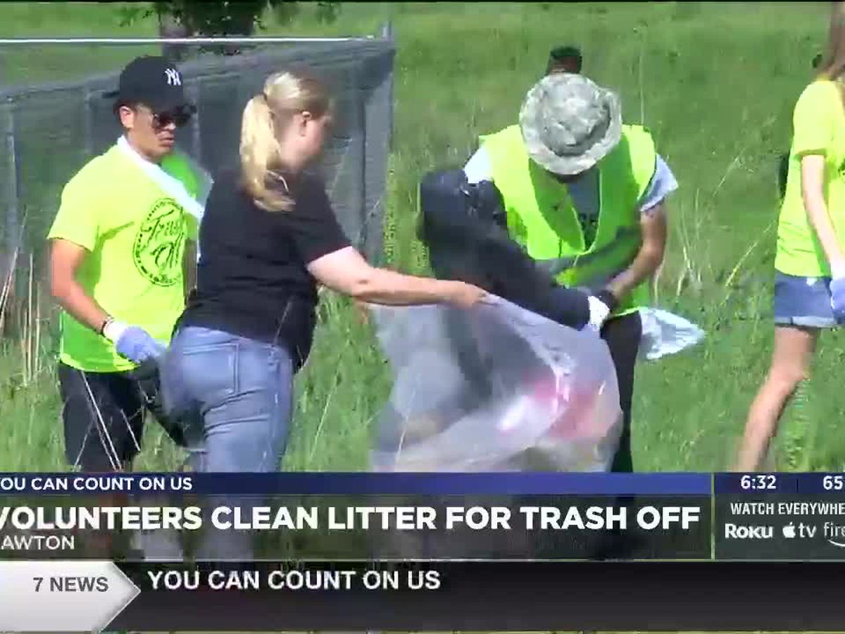 Organizations volunteer in Lawton's annual Trash Off
