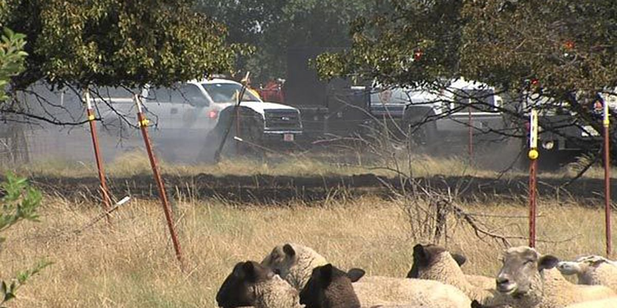 Lawnmower sparks 7-acre fire