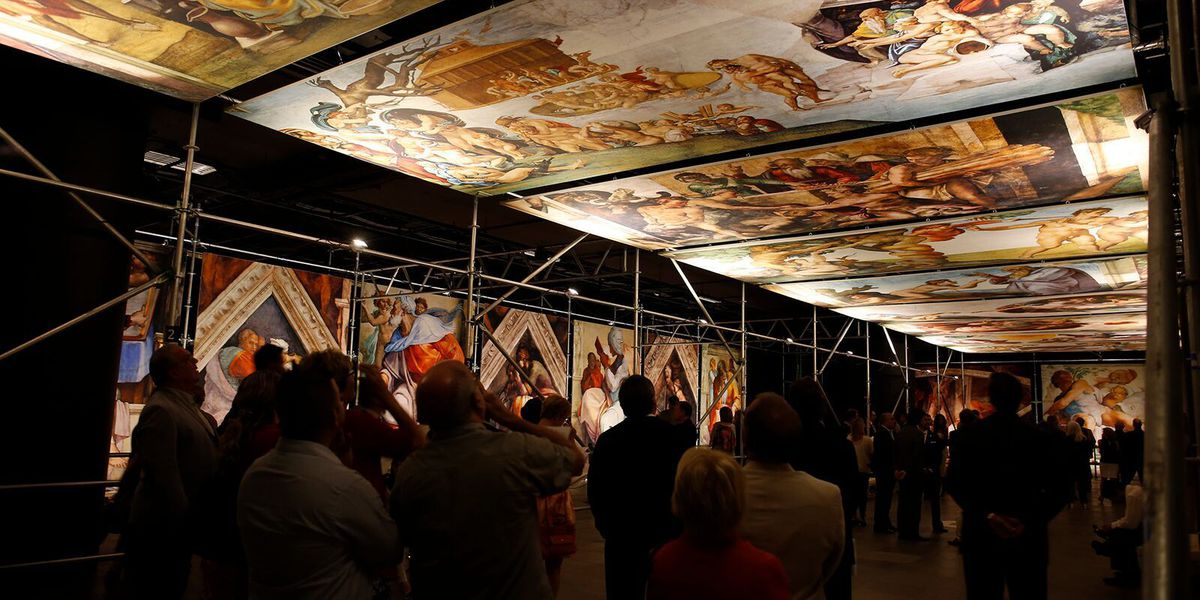 "For the first time in America, ""Michelangelo's Sistine Chapel - The Exhibition"" opens at the State Fair of Texas"