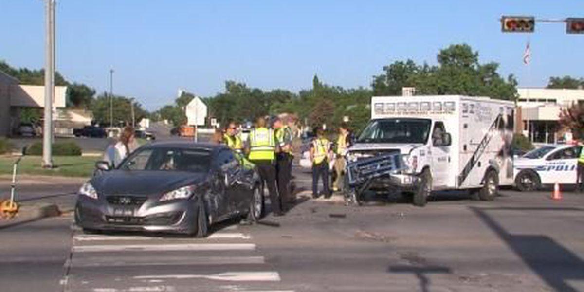 Emergency responders injured in ambulance collision