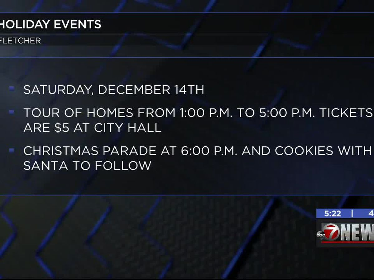 Fletcher hosting multiple holiday events