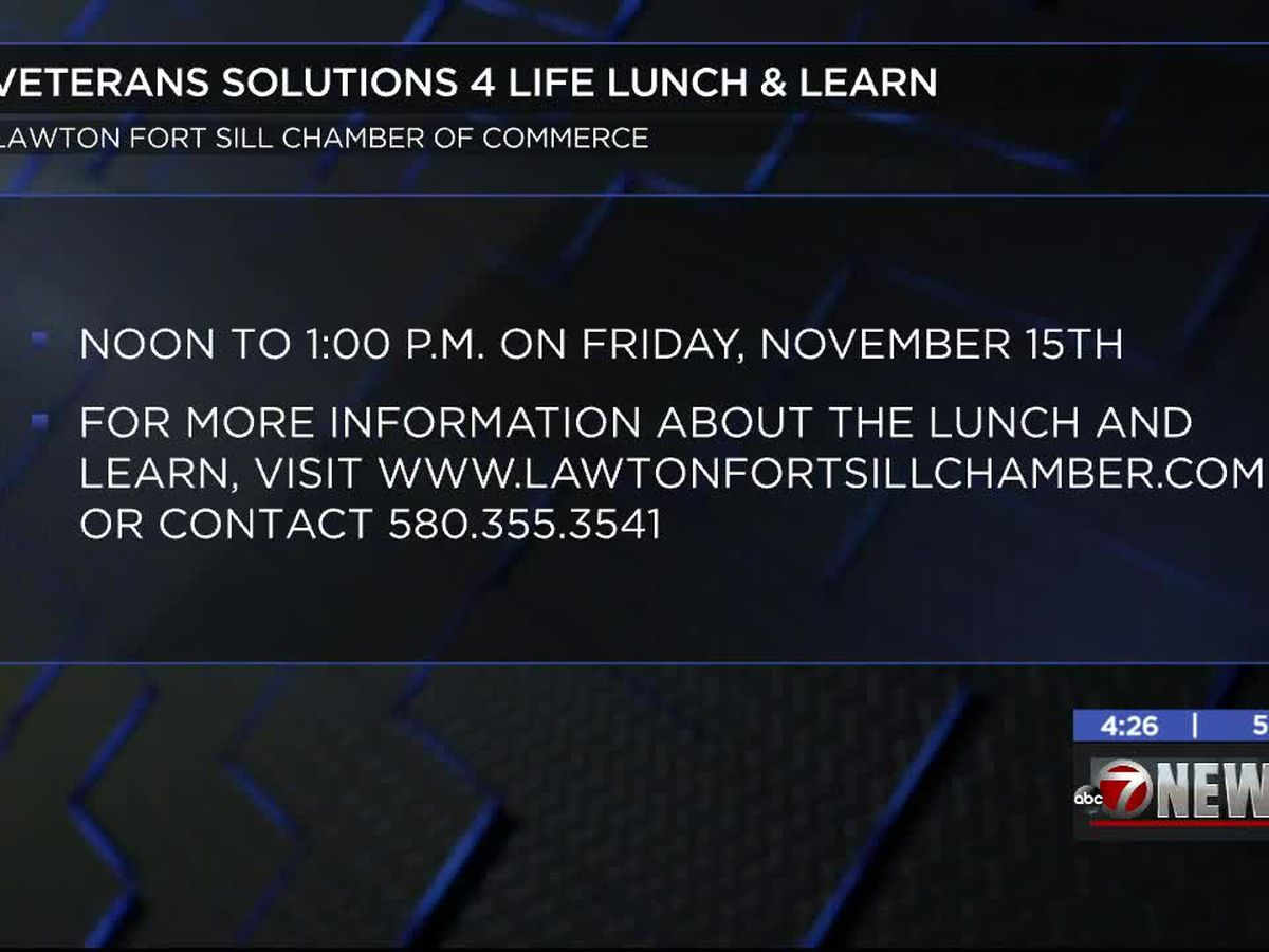Veterans Solutions 4 Life hosting lunch and learn at Lawton-Fort Sill Chamber of Commerce