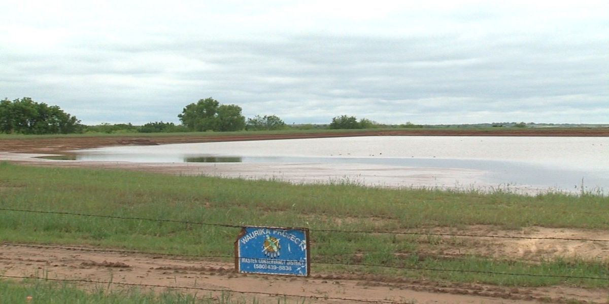 Waurika Lake silt removal ahead of schedule, under budget