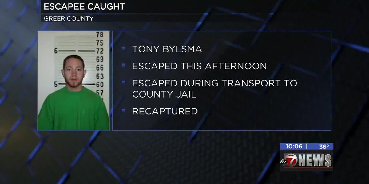 UPDATE: Mangum Police say escaped inmate found
