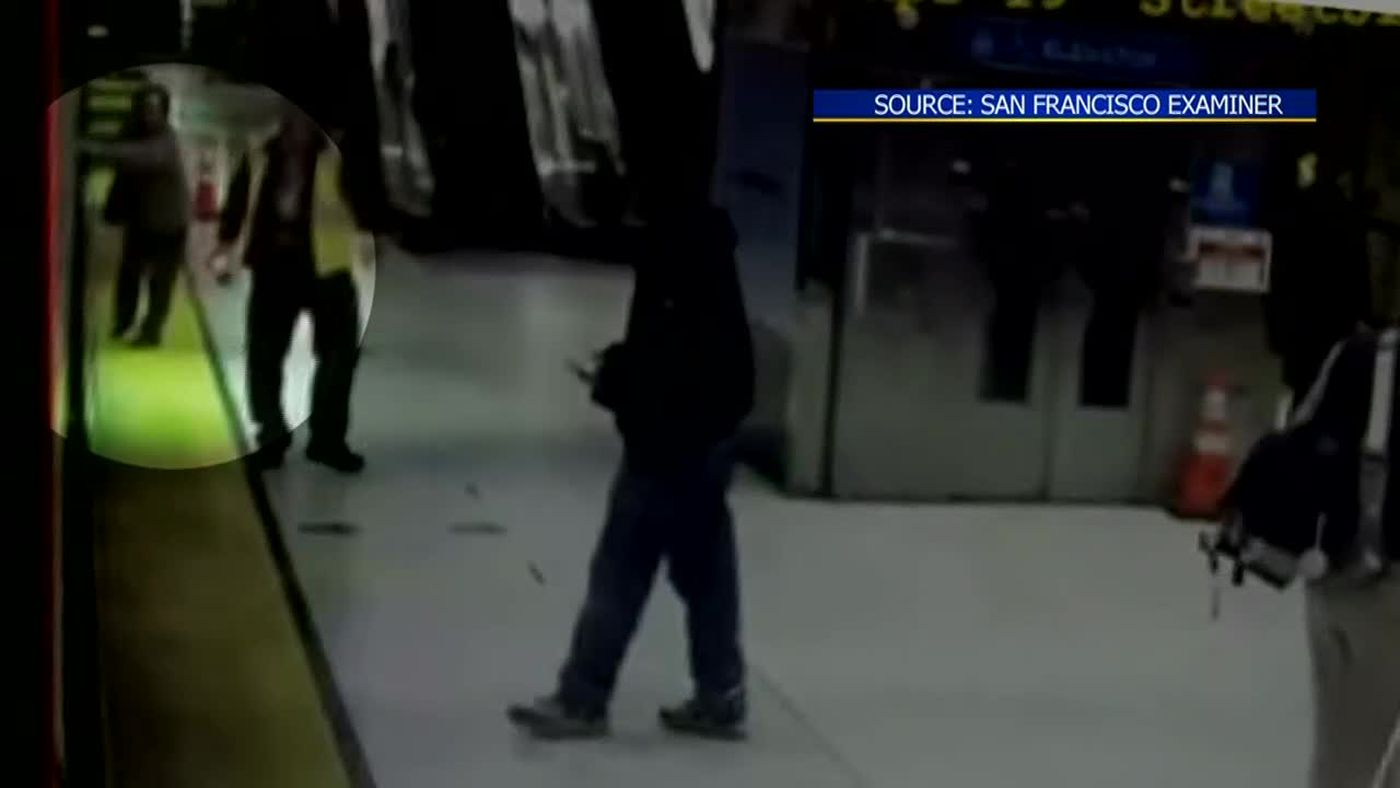 Video shows elderly woman being dragged by train