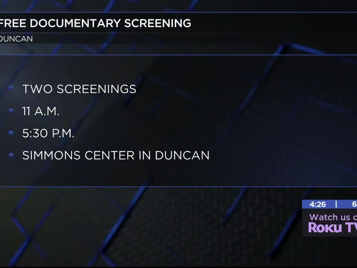 Okla. First Lady moderating panel discussion after documentary screening