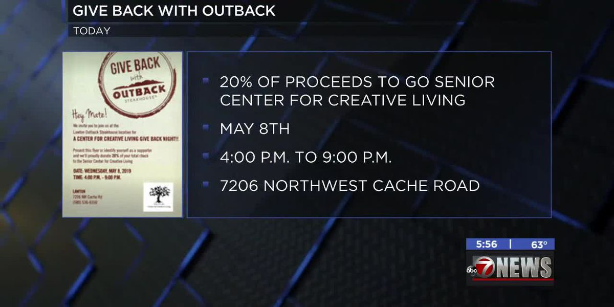 Support Senior Center for Creative Living at Outback