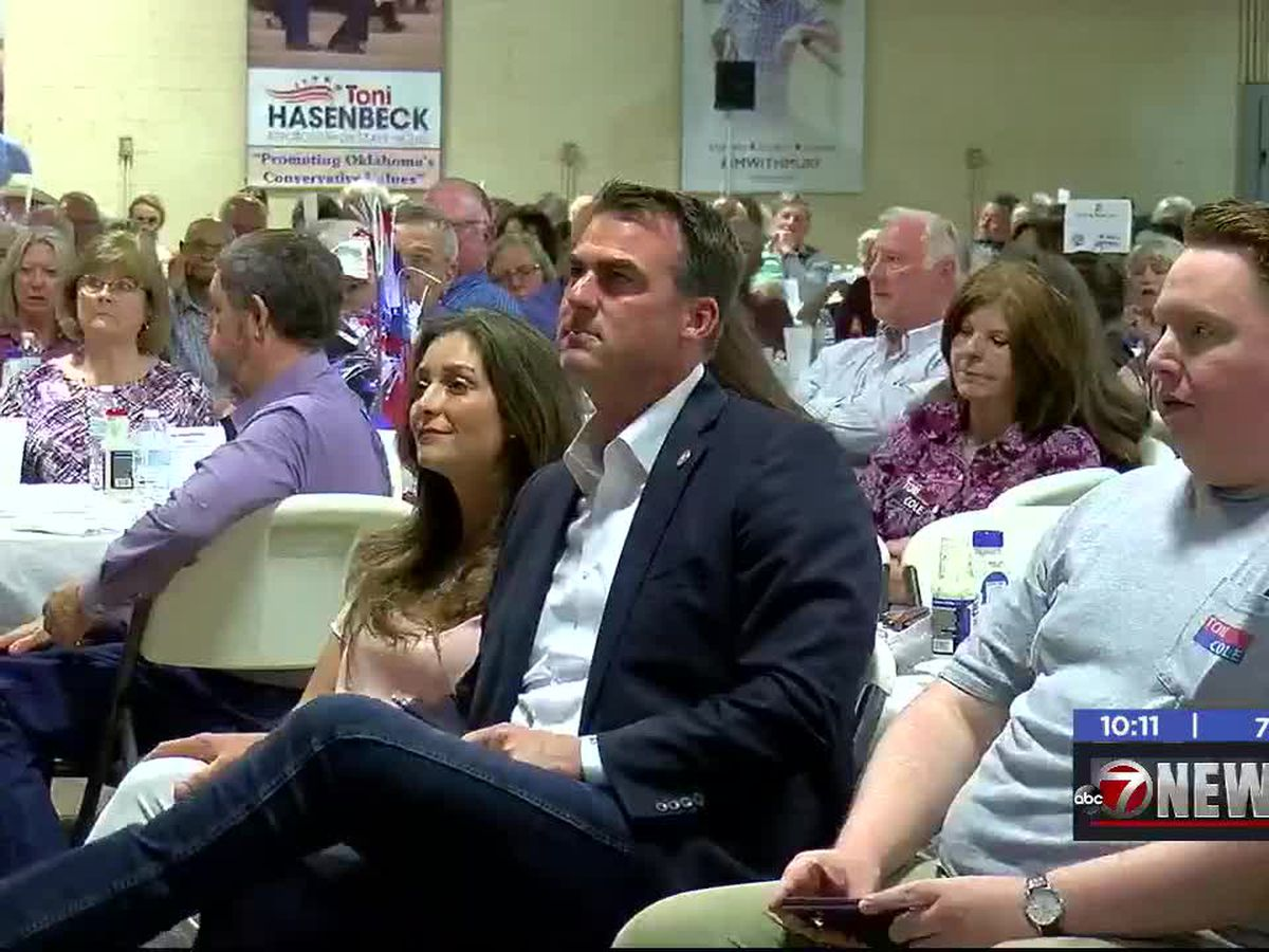 Gov. Stitt speaks at 15th Annual GOP Fish Fry in Duncan