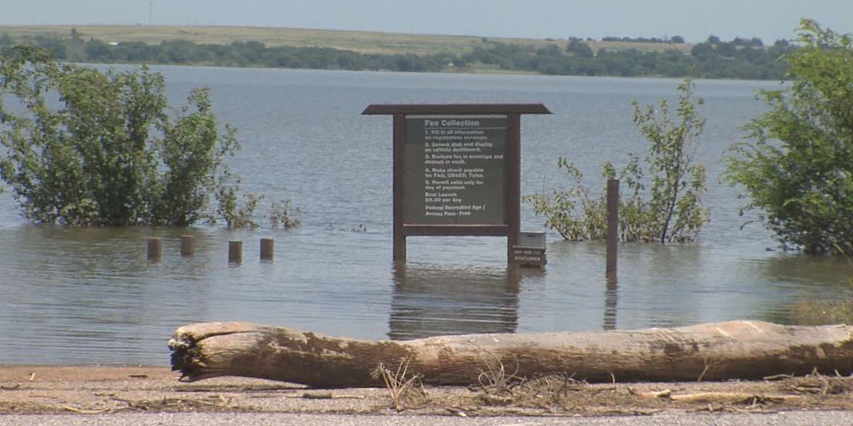 Flooding closes campgrounds, boat ramps at Waurika Lake