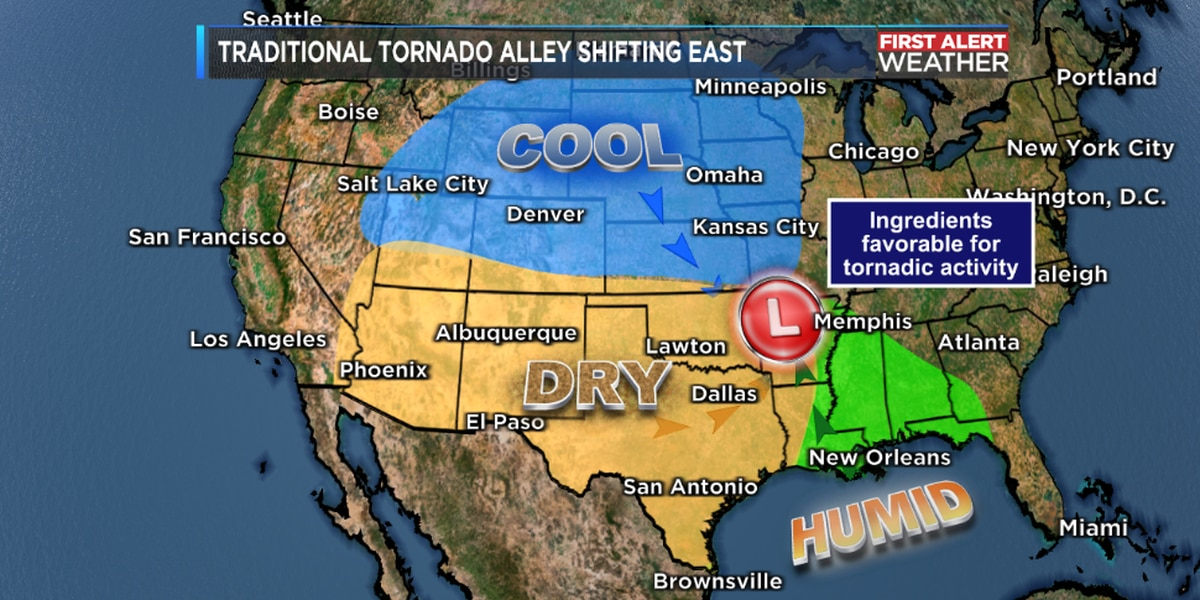 """Research Indicates that the Significant Tornado Threat is Shifting Eastward - Away From """"Tornado Alley"""""""