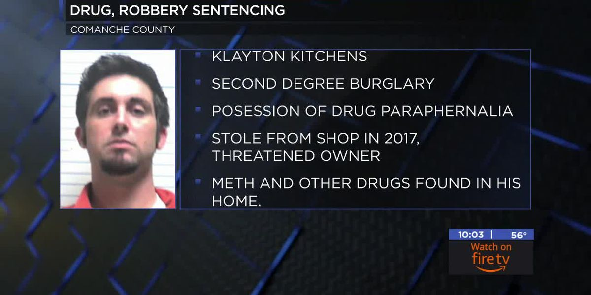 Lawton man sentenced for drug and burglary convictions
