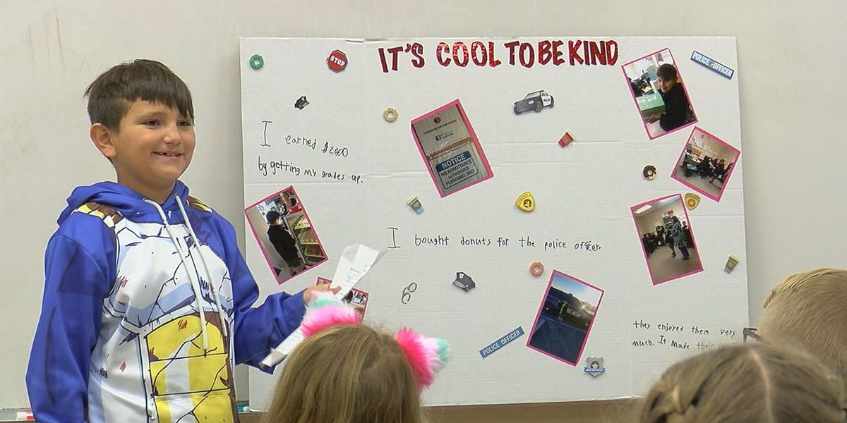 Elgin 2nd graders complete $1 kindness projects