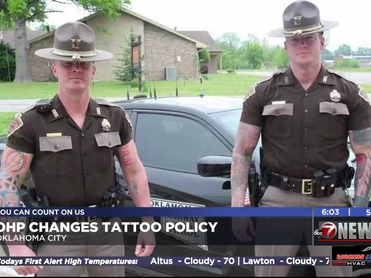 Oklahoma Highway Patrol changes tattoo policy
