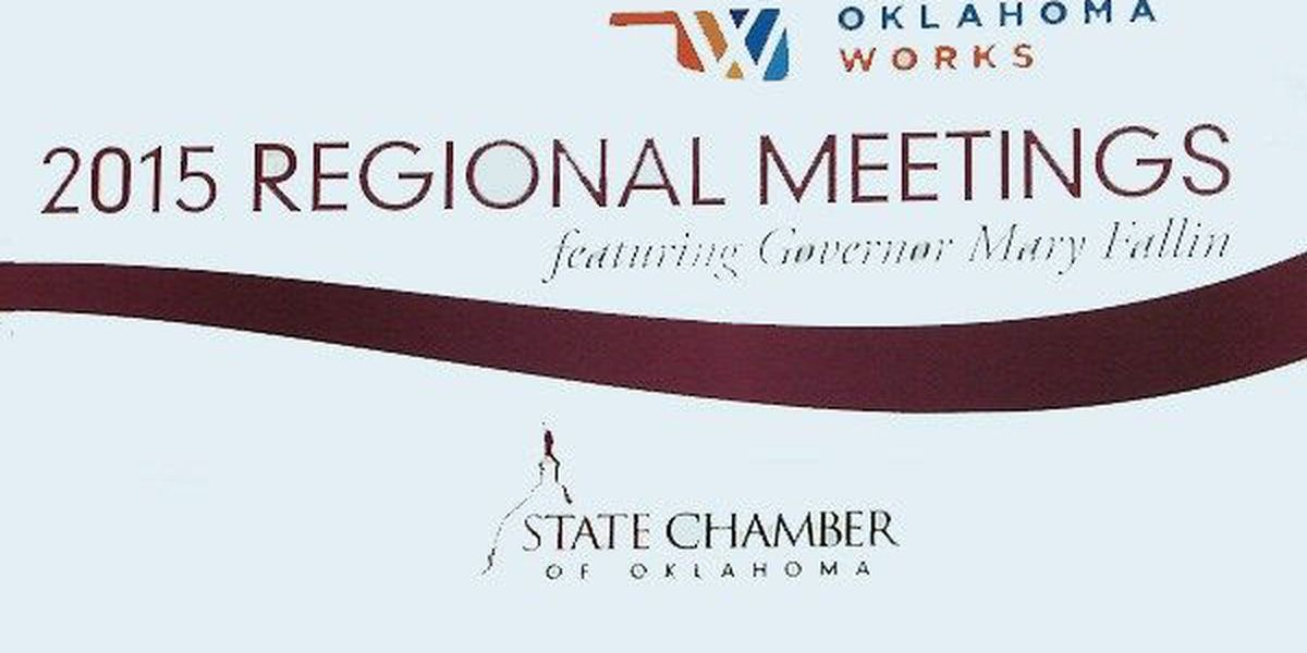 "Governor Fallin stops by ""Oklahoma Works"" event"