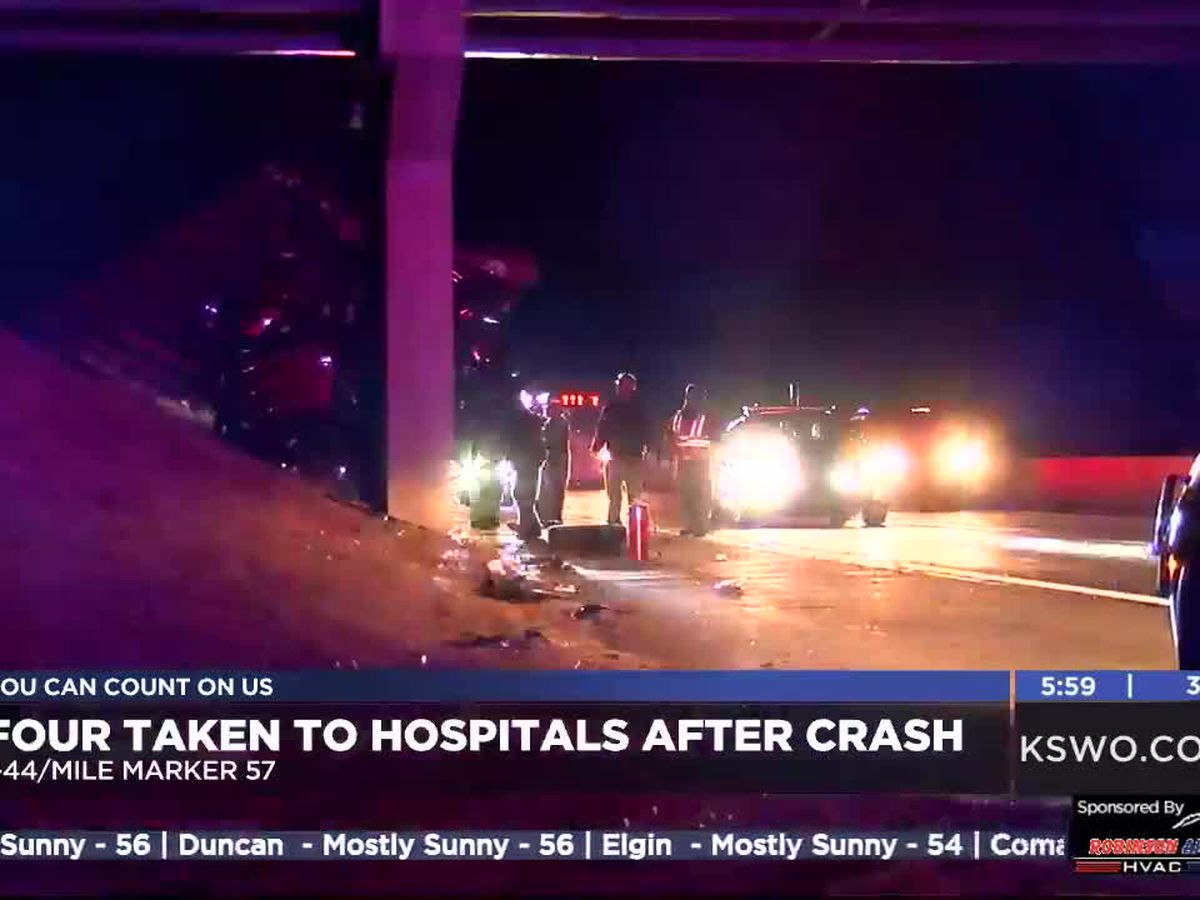 Four Wichita Falls residents injured after crash on I-44 near Fletcher