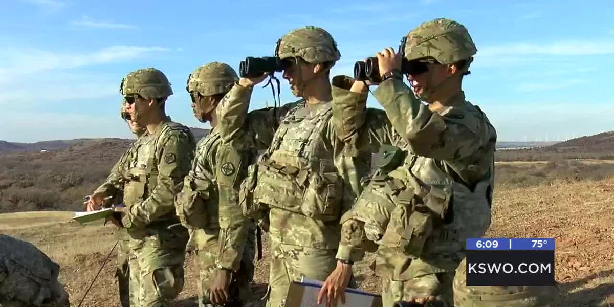 Basic officer course field artillery students take place in Fort Sill live fire training exercise