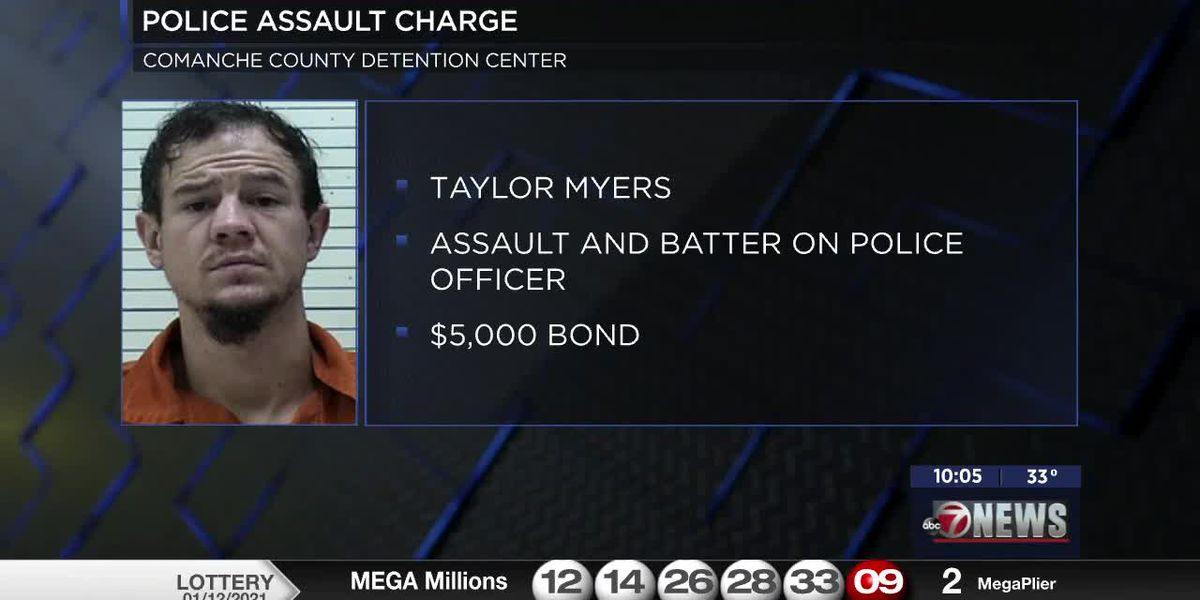 Man charged after hitting Lawton police officer