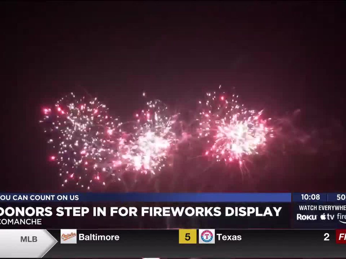 Community steps in to save Comanche's Independence Day fireworks show