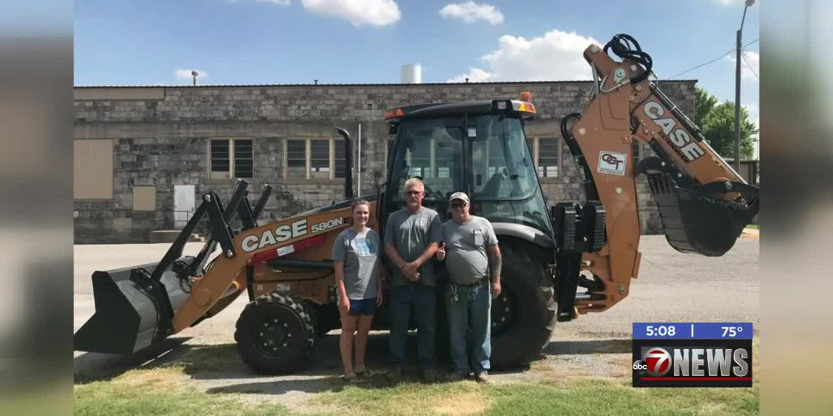 Town of Rocky gets new backhoe with REAP Grant
