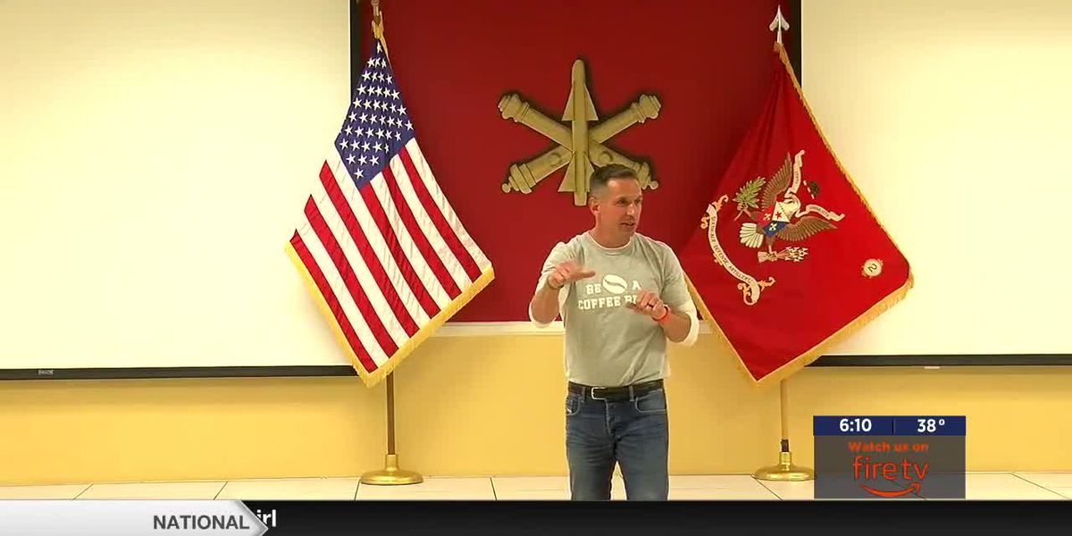 Texas Author Damon West speaks to leaders on Fort Sill