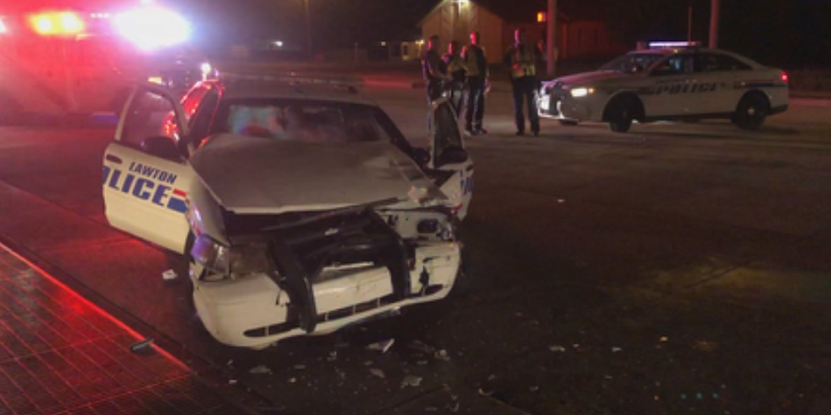 Lawton police officer injured in crash