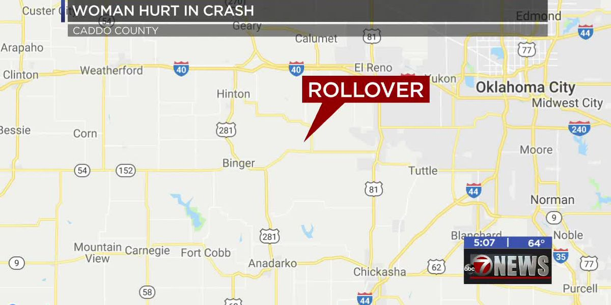 One injured in Caddo County crash