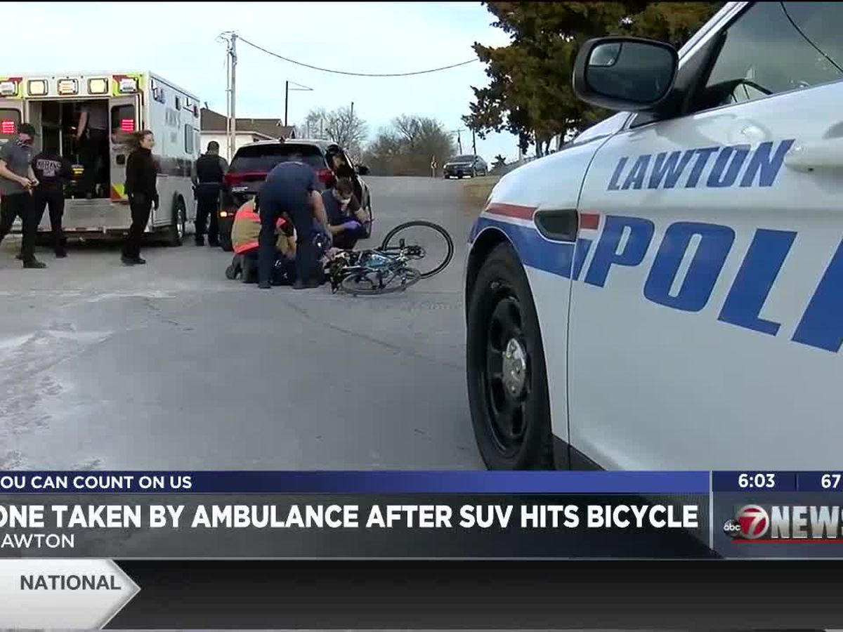 Bicyclist taken to hospital after being hit by SUV