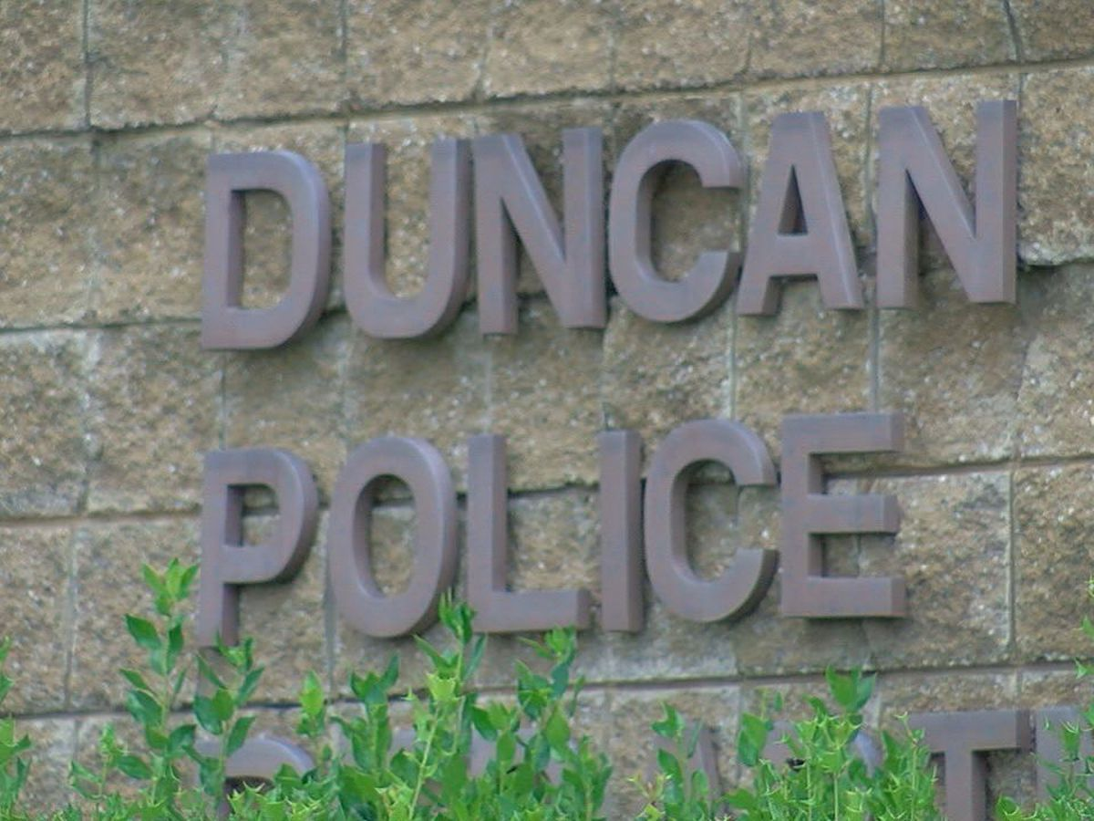 Duncan Police investigate after patrol car shot