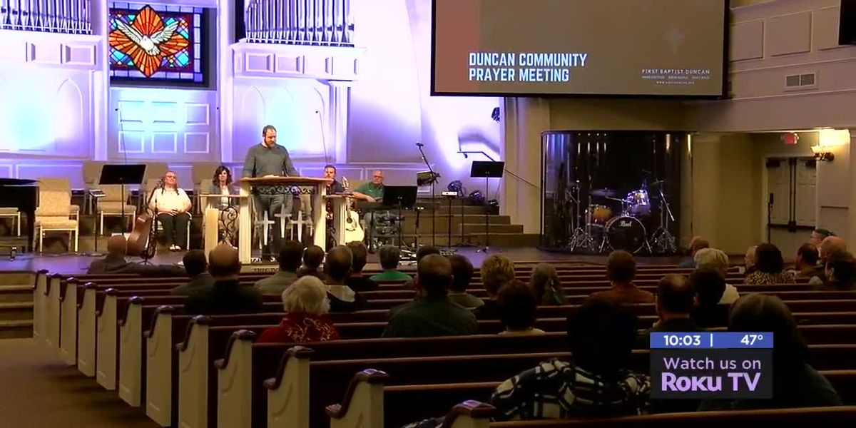 Duncan church hosts prayer meeting for community after deadly Walmart shooting