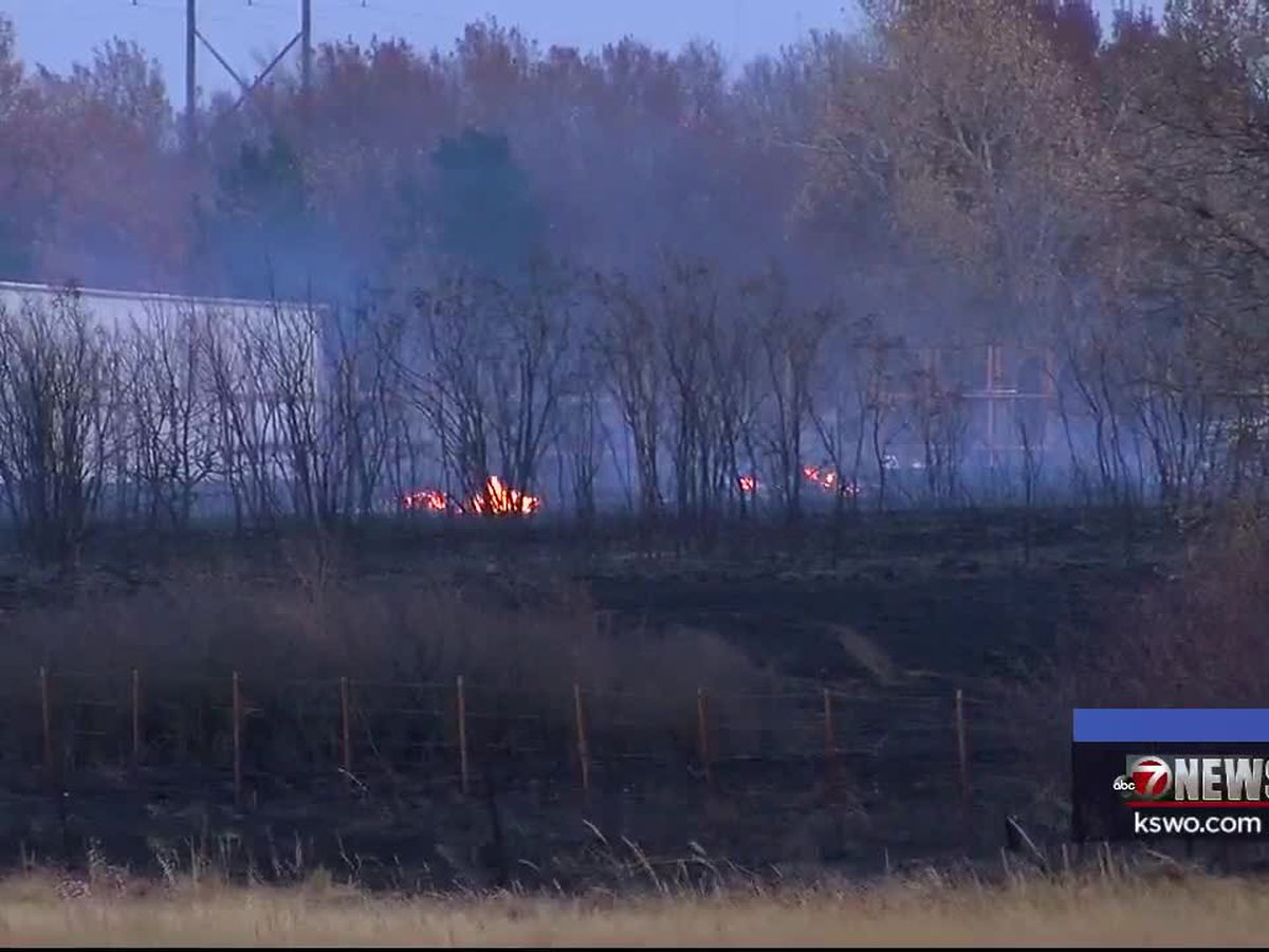 Two separate grass fires burn southwest of Duncan