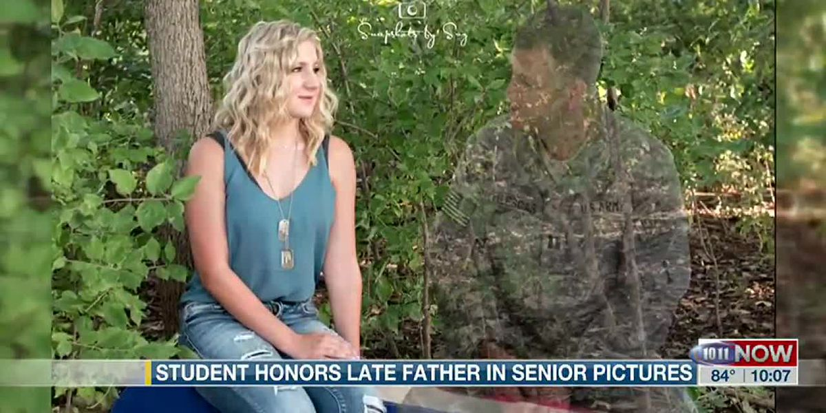 Senior photos honor teen's late father
