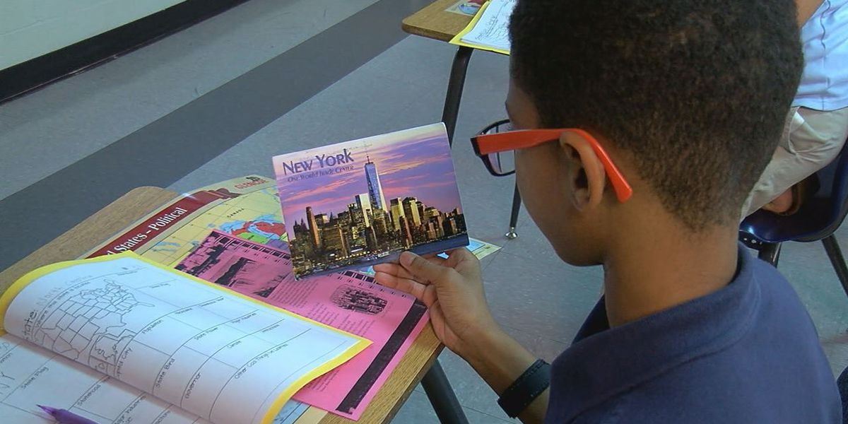 CMS students use postcards to learn about United States