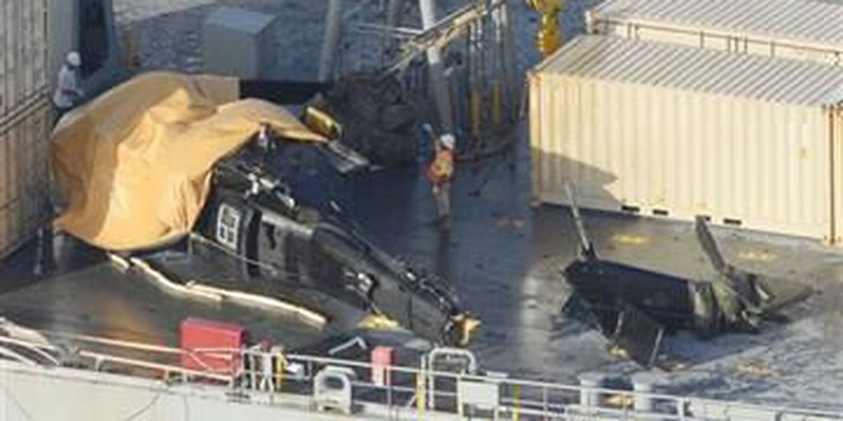 US Army copter crash-lands on ship off Japan island; 7 hurt