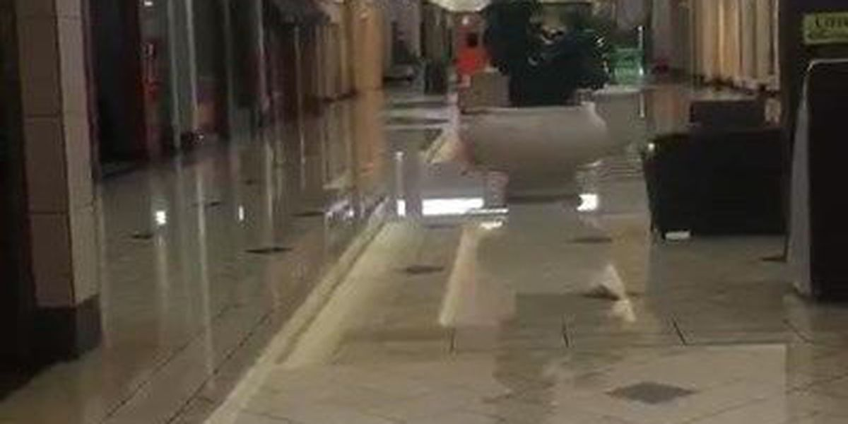 Central Mall hit by storms