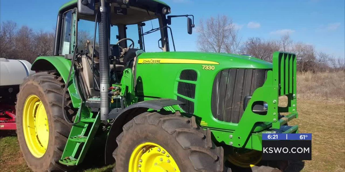 Duncan family's tractor vandalized over the weekend