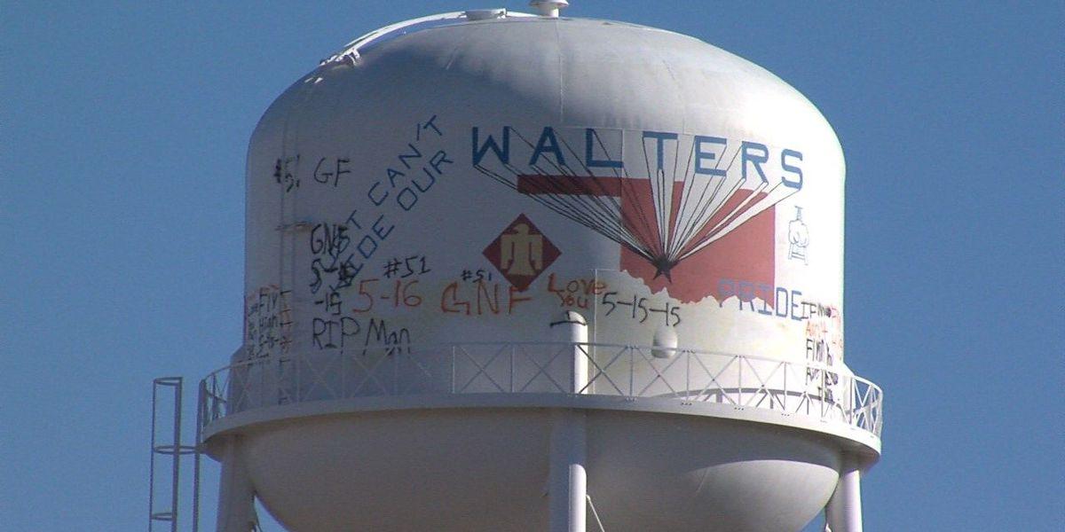Walters water tower vandalized