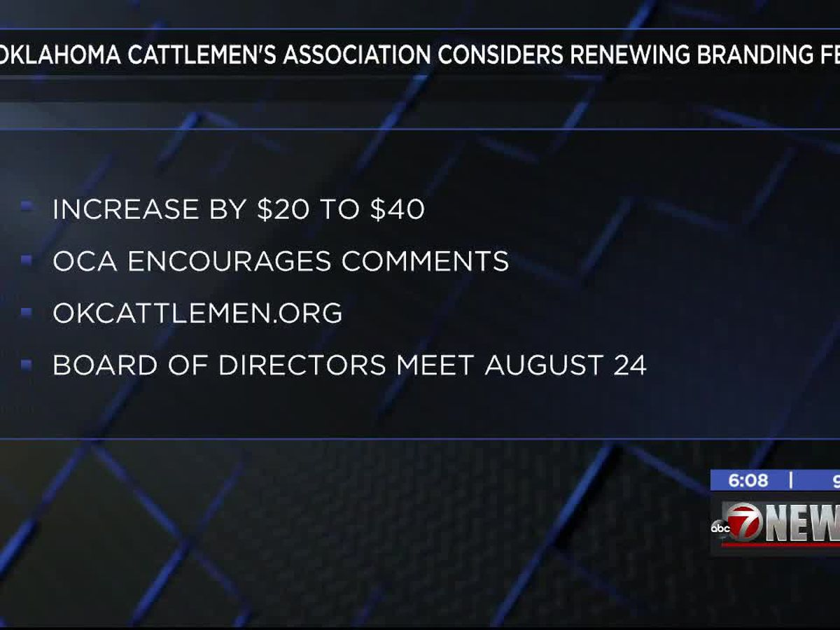 Oklahoma Cattlemen's Association considers renewing branding fee