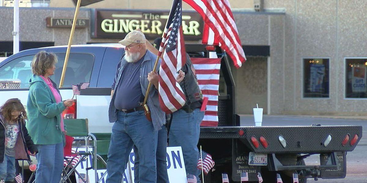 Waving flags to raise awareness