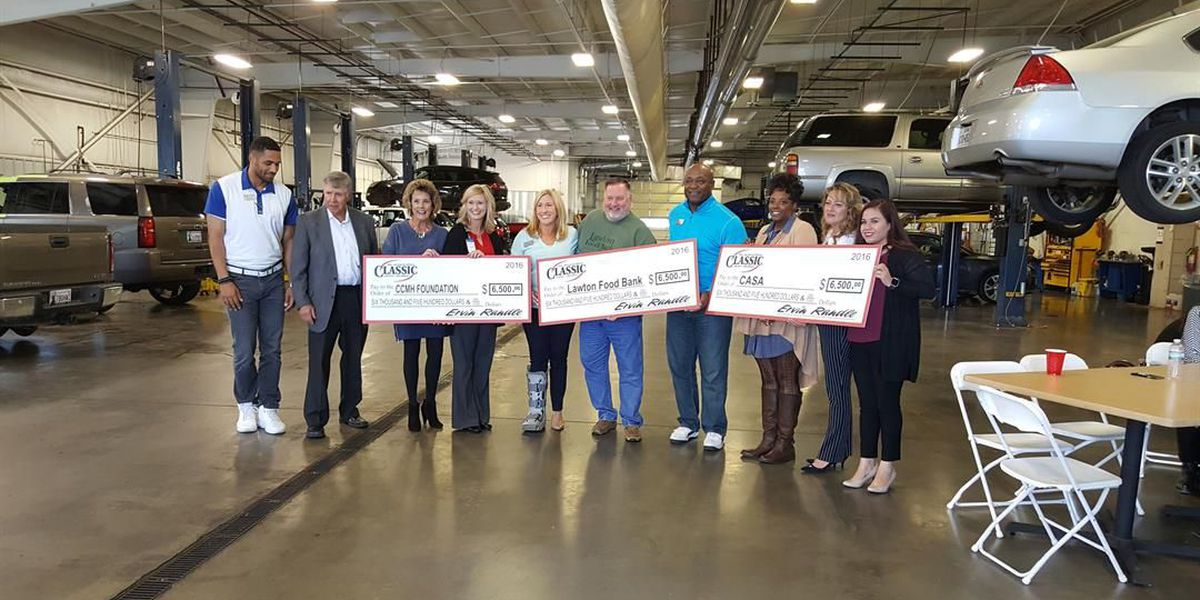 Local charities receive large donation from Classic Lawton Chevrolet golf tournament