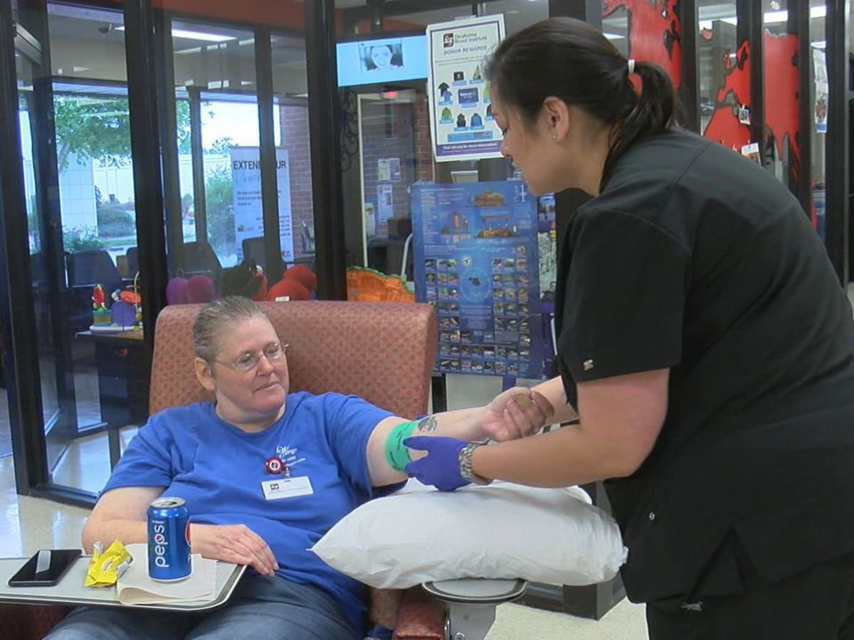 Oklahoma Blood Institute holds Pre-Memorial Day Blood Drive