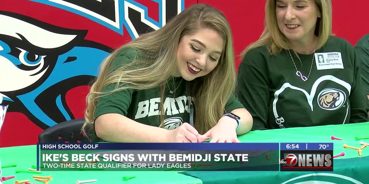 Ike's Beck to continue golf career at Bemidji State