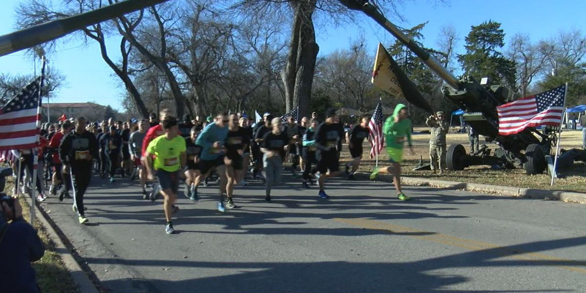 People participated in The Run for the Fallen