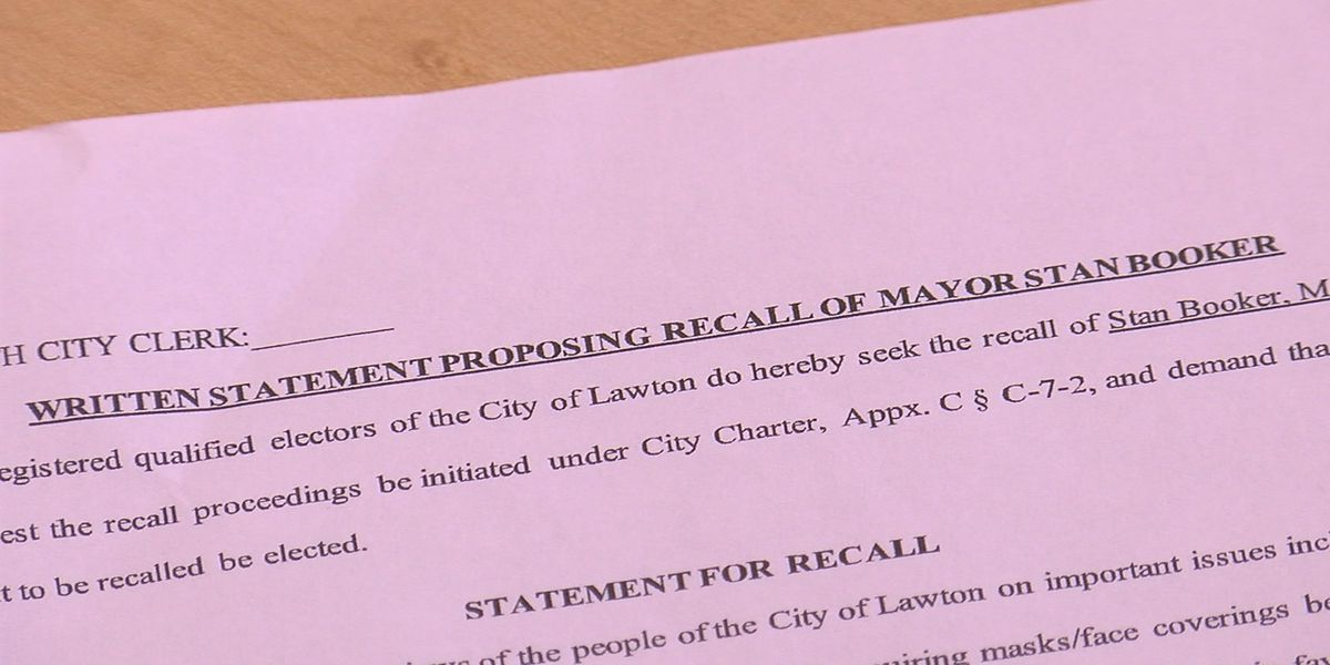 Lawton group attempting to recall Mayor Stan Booker, Councilman Jay Burk